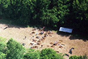 Excavations at the Winslow site, Montgomery County, Maryland, in 2002.